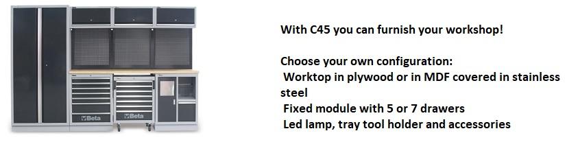 C45 Korjaamotyöpistejärjestelmä