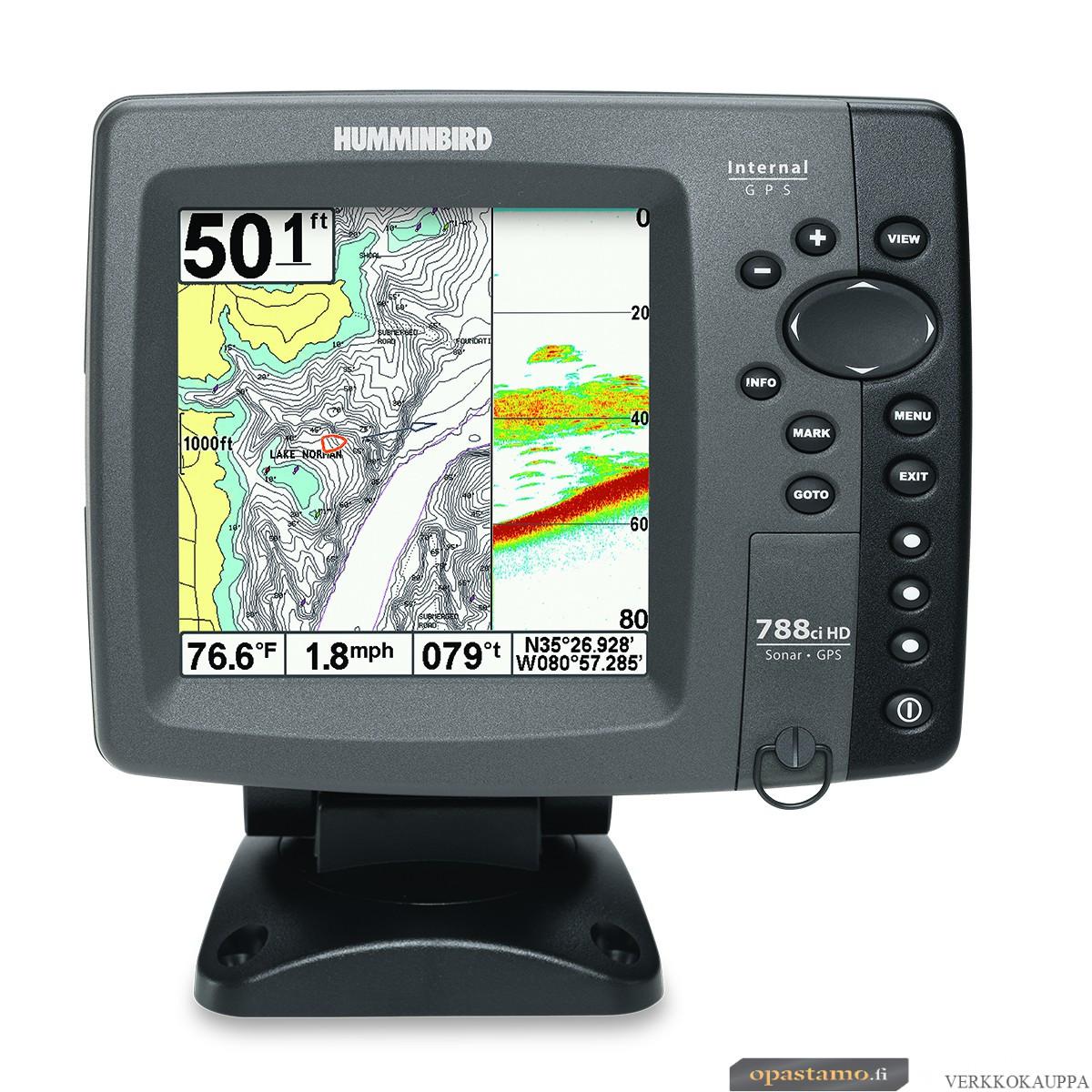 Humminbird 788CXI HD COMBO kaikuluotain / karttaplotteri