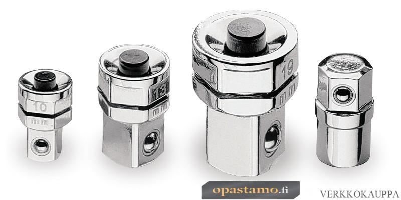 """BETA 123/K4 adapterisarja 10 mm räikkälenkkeihin, pikakiinitys vääntiöille 1/4"""", 3/8"""" tai ½"""" ja BITS-pitimelle"""