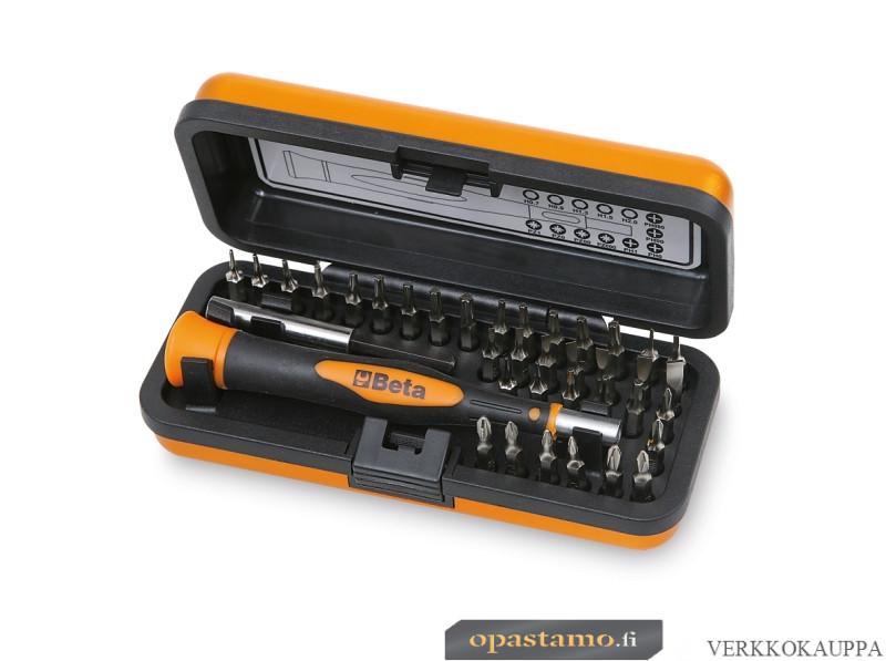 Beta 1256/C36-2 BITS 4 mm palasarja ja tarvikkeet alumiinisalkussa. 36-osaa