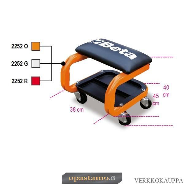 Beta 2252-O asentajan istuin, oranssi