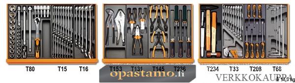 BETA TOOLS 5904VI/1T  työkalulajitelmassa 98-osaa lämpömuovatuissa paneeleissa