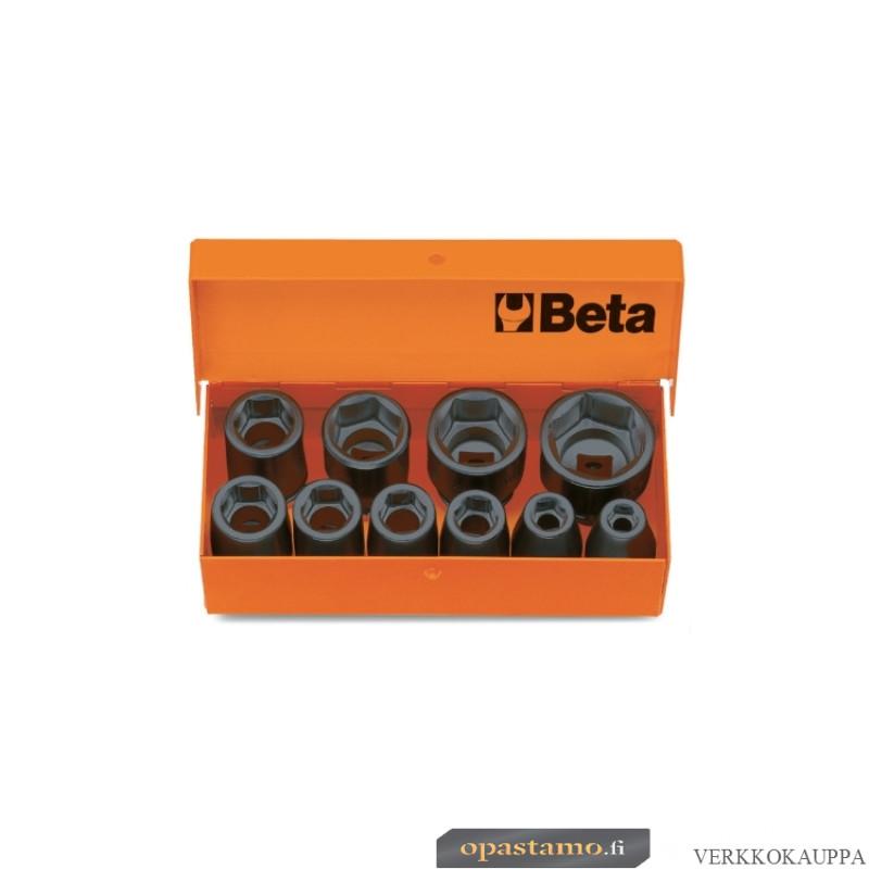 """BETA 710/C10 voimahylsysarja metallisalkussa, STANDARD-sarja, 10-avainta. Vääntiö 3/8"""""""