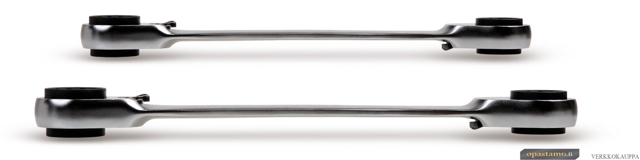 BETA 192/S2 kaksipuoliset 4 in 1 räikkälenkit. 192 sarja pakkauksessa, 2-avainta 8x10/12x13, 16x17/18x19 mm