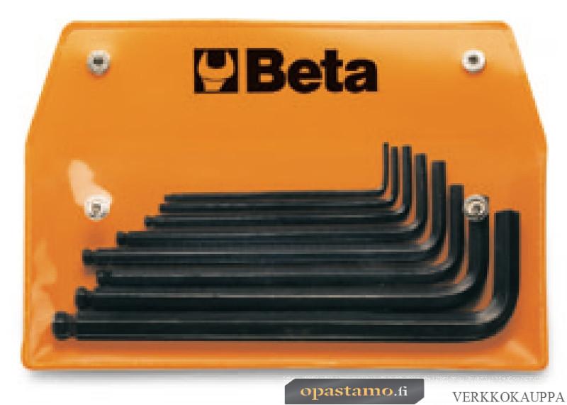 BETA  96BP-AS/8-8 pallopääkuusiokolo avainsarja (ITEM 96BP/AS) pitimessä, 8 avainta TUUMAKOKOISET
