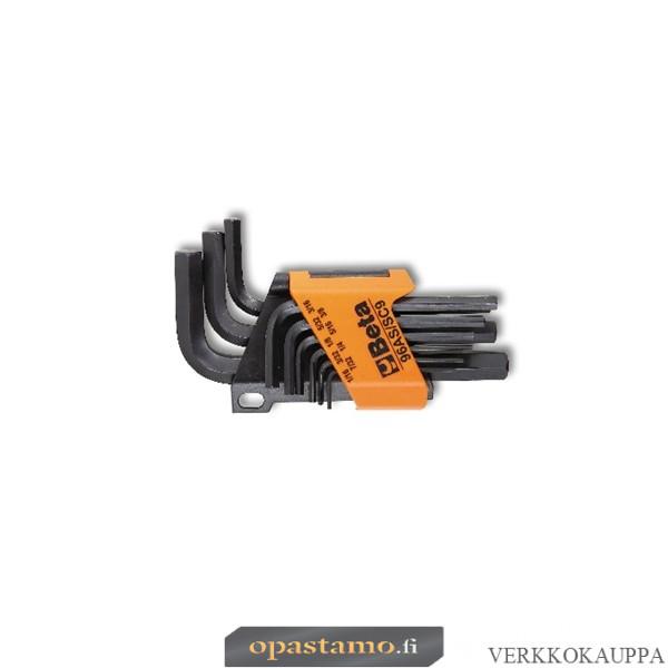 BETA  96AS/SC9 kuusiokoloavainsarja (item 96AS) pitimessä, 9 avainta TUUMAKOKOISET