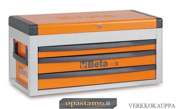 BETA C22S-O siirreltävä työkaluarkku avattavalla kannella ja 3:lla laatikolla