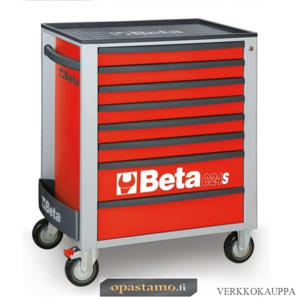 BETA TOOLS C24S/8-R  liikuteltava työkaluvaunu 8:lla laatikolla