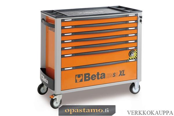BETA TOOLS C24SAXL/7-O  liikuteltava työkaluvaunu 7:llä laatikolla, leveä malli, anti-tilt