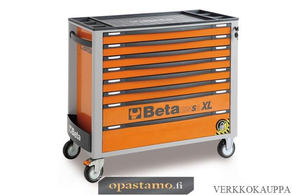 BETA TOOLS C24SAXL/8-O  liikuteltava työkaluvaunu 8:lla laatikolla, leveä malli, anti-tilt