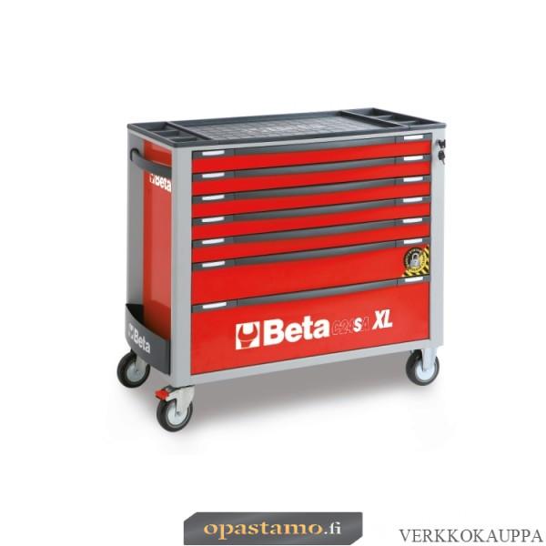 BETA TOOLS C24SAXL/7-R  liikuteltava työkaluvaunu 7:llä laatikolla, leveä malli, anti-tilt