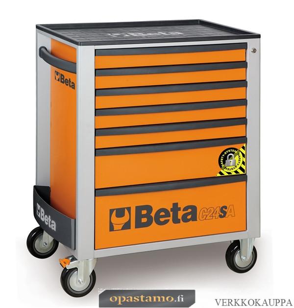 BETA TOOLS C24SA/7-O  liikuteltava työkaluvaunu 7:llä laatikolla, ANTI-TILT