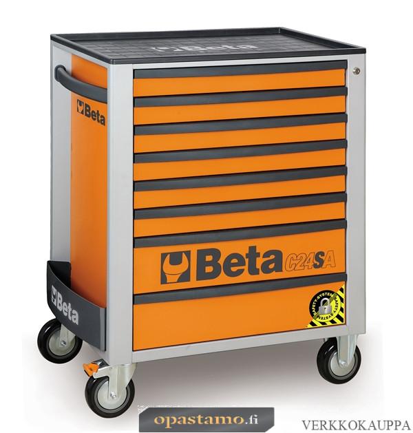 BETA TOOLS C24SA/8-O  liikuteltava työkaluvaunu 8:lla laatikolla, ANTI-TILT