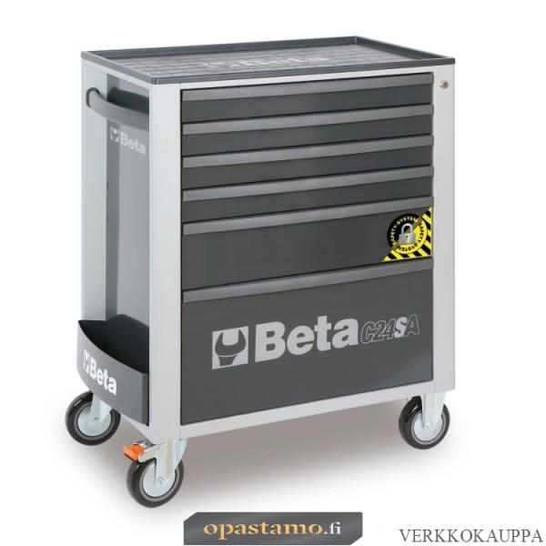 BETA TOOLS C24SA/6-G  liikuteltava työkaluvaunu 6:lla laatikolla, ANTI-TILT