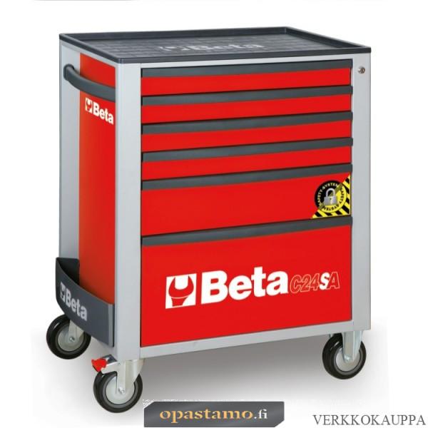 BETA C24SA/6-R liikuteltava työkaluvaunu 6:lla laatikolla, ANTI-TILT