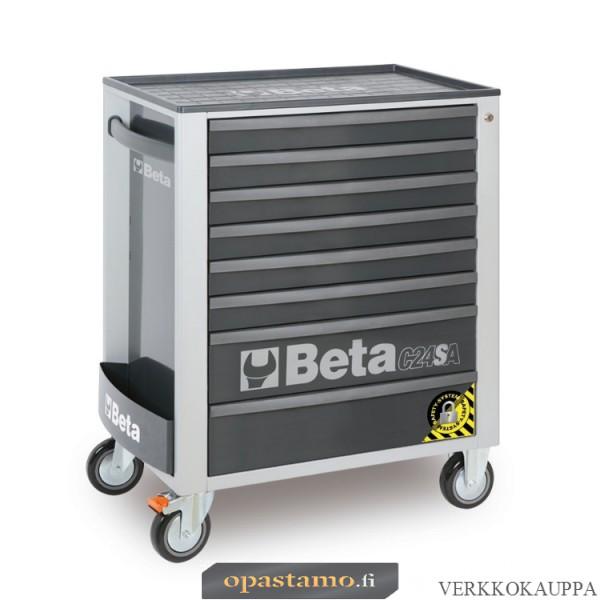 BETA TOOLS C24SA/8-G  liikuteltava työkaluvaunu 8:lla laatikolla, ANTI-TILT