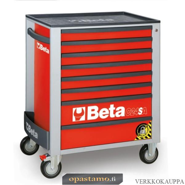 BETA TOOLS C24SA/8-R  liikuteltava työkaluvaunu 8:lla laatikolla, ANTI-TILT