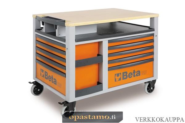 BETA TOOLS C28-O  SUPERTANK, liikuteltava työkaluvaunu työtasolla ja 10:llä laatikolla