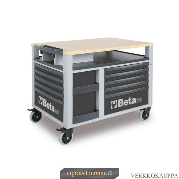 BETA TOOLS C28-G  SUPERTANK, liikuteltava työkaluvaunu työtasolla ja 10:llä laatikolla