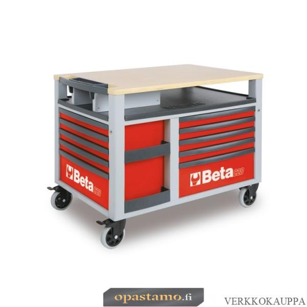 BETA TOOLS C28-R  SUPERTANK, liikuteltava työkaluvaunu työtasolla ja 10:llä laatikolla