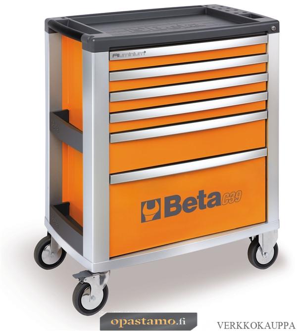 BETA TOOLS C39-6/O  liikuteltava työkaluvaunu 6:lla laatikolla