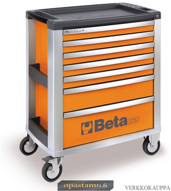BETA TOOLS C39-7/O  Liikuteltava työkaluvaunu 7:llä laatikolla
