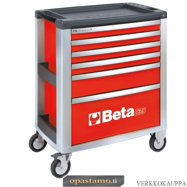 BETA TOOLS C39-6/R  liikuteltava työkaluvaunu 6:lla laatikolla