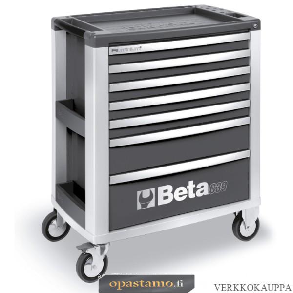 BETA TOOLS C39-7/G  Liikuteltava työkaluvaunu 7:llä laatikolla