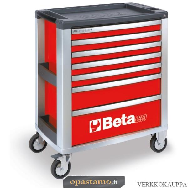 BETA TOOLS C39-7/R  liikuteltava työkaluvaunu 7:llä laatikolla