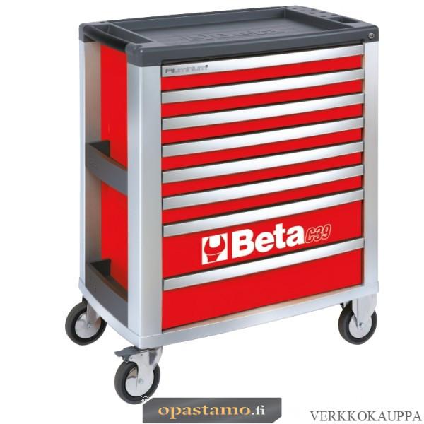 BETA TOOLS C39-8/R  liikuteltava työkaluvaunu 8:lla laatikolla
