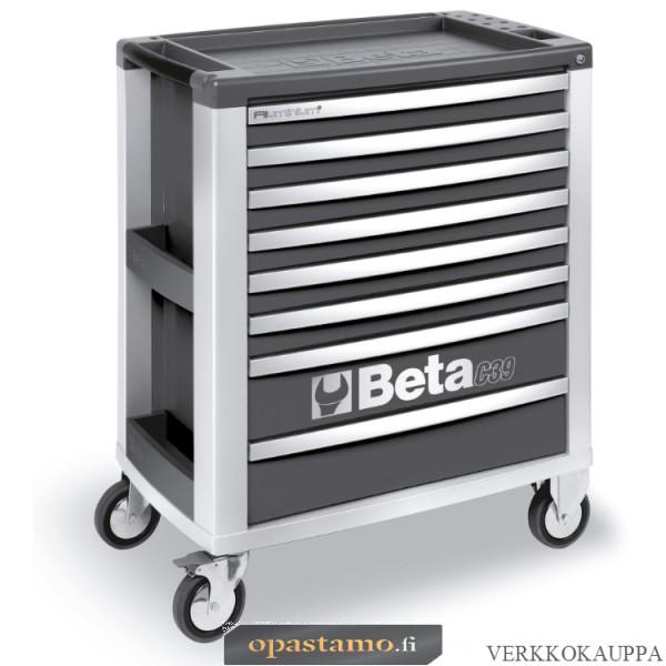 BETA TOOLS C39-8/G  liikuteltava työkaluvaunu 8:lla laatikolla