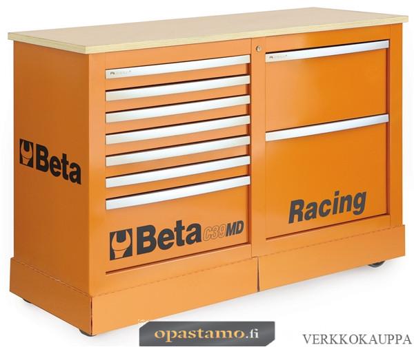 BETA TOOLS C39MD-O  liikuteltava työkaluvaunu 7:llä laatikolla ja työtasolla