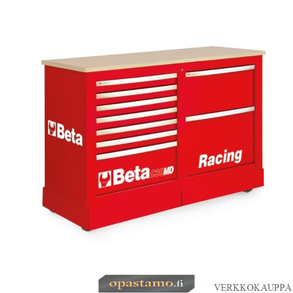 BETA C39MD-R liikuteltava työkaluvaunu 7:llä laatikolla ja työtasolla