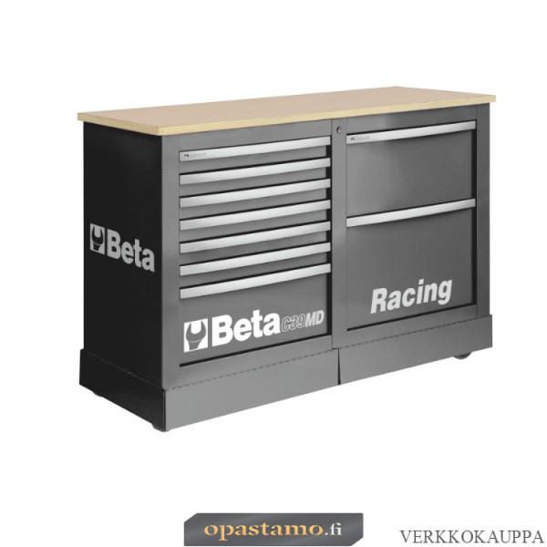BETA TOOLS C39MD-G  liikuteltava työkaluvaunu 7:llä laatikolla ja työtasolla