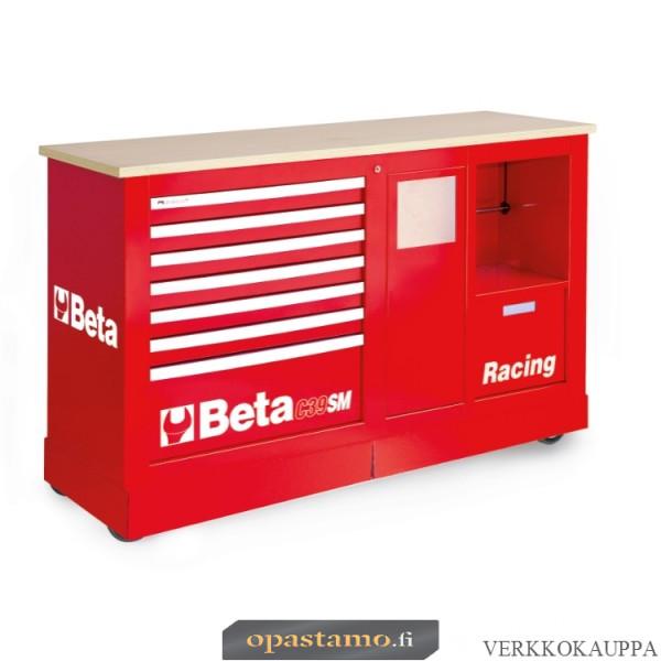 BETA TOOLS C39SM-R  liikuteltava työkaluvaunu paperirullatelineellä ja roskakorilla