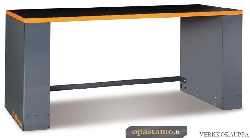 BETA C55BO/2 työtaso jaloilla, leveys 2050 mm, oranssi reunalista