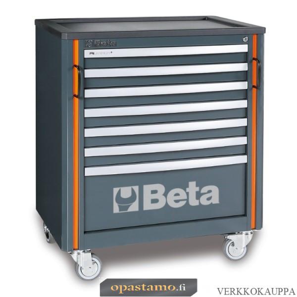 BETA TOOLS C55C7  liikuteltava työkaluvaunu 7:llä laatikolla, yhteensopiva C55-sarjan kalusteyhdistelmiin