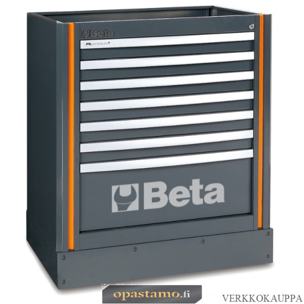 BETA C55M7 työtason alle kiinteästi sijoitettava elementti 7:llä laatikolla c55-sarjan kalusteyhdistelmiin