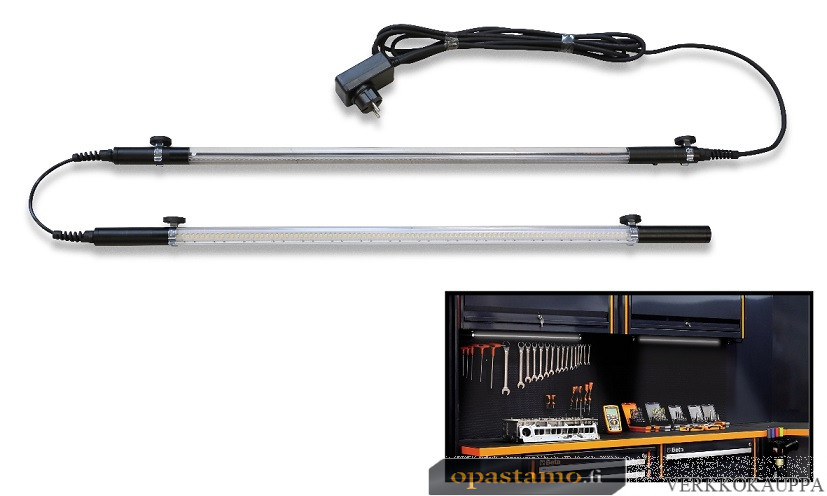 BETA TOOLS C55LMP/2  sarjan C55 kalusteyhdistelmiin asennettava LED-valaisin, pituus 2100 mm