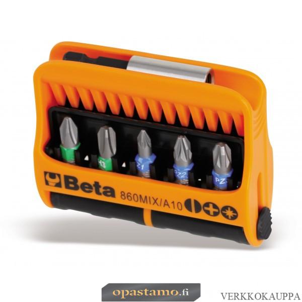 BETA 860MIX/A10 BITS palat pitimessä. 10 kärkeä ja pidin