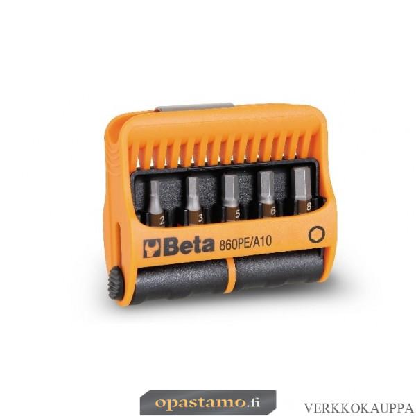 BETA 860PE/A10 BITS palat pitimessä. 10 kärkeä, kuusikulmaiset