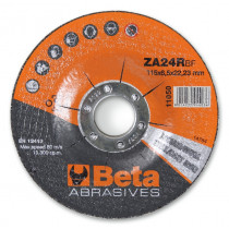 BETA 11050 115X6,5 Abrasive steel grinding discs, with zirconia abrasive and depressed centre