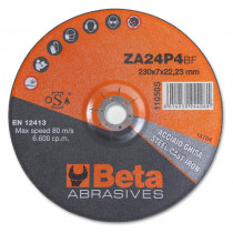BETA 11050S 230X7,0 Abrasive steel cutting discs, with zirconia abrasive and depressed centre