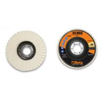 BETA 11259115 Felt flap discs, fibreglass backing pad, single flap construction