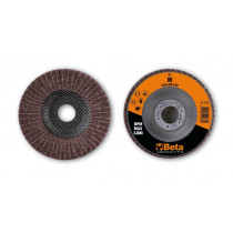 BETA 11435 M-120 Flap/non-woven radial discs, abrasive cloth alternating with corundum synthetic fibres
