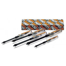 Beta 1252/S5 ruuvitalttasarja, ruuvin pitimillä, 5 meisseliä. Koot suoraurakannoille 0,5x3x125-0,6x4x125 ja 0,7x5x150mm ja ristiurakannoille Phillips® PH1-PH2
