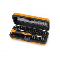 BETA TOOLS 1256/C36-2 BITS 4 mm palasarja ja tarvikkeet alumiinisalkussa. 36-osaa