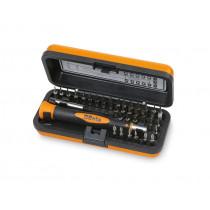 Beta 1256/C36-2 BITS palasarja ja tarvikkeet alumiinisalkussa. 36-osaa, kärjet 4mm kuusioistukalle