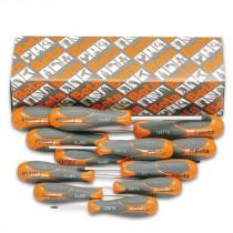 Beta 1297TX/S12 ruuvitalttasarja kannalle TX Torx® (TUOTE  1297TX) pakkauksessa 12 meisseliä