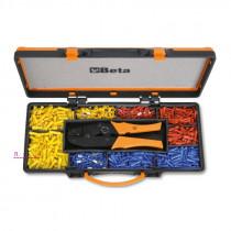 BETA 1608/C9 salkussa puristuspihdit säädettävällä puristusvoimalla eristettyille liittimille 0,5÷6mm² ja liitinlajitelma 900kpl